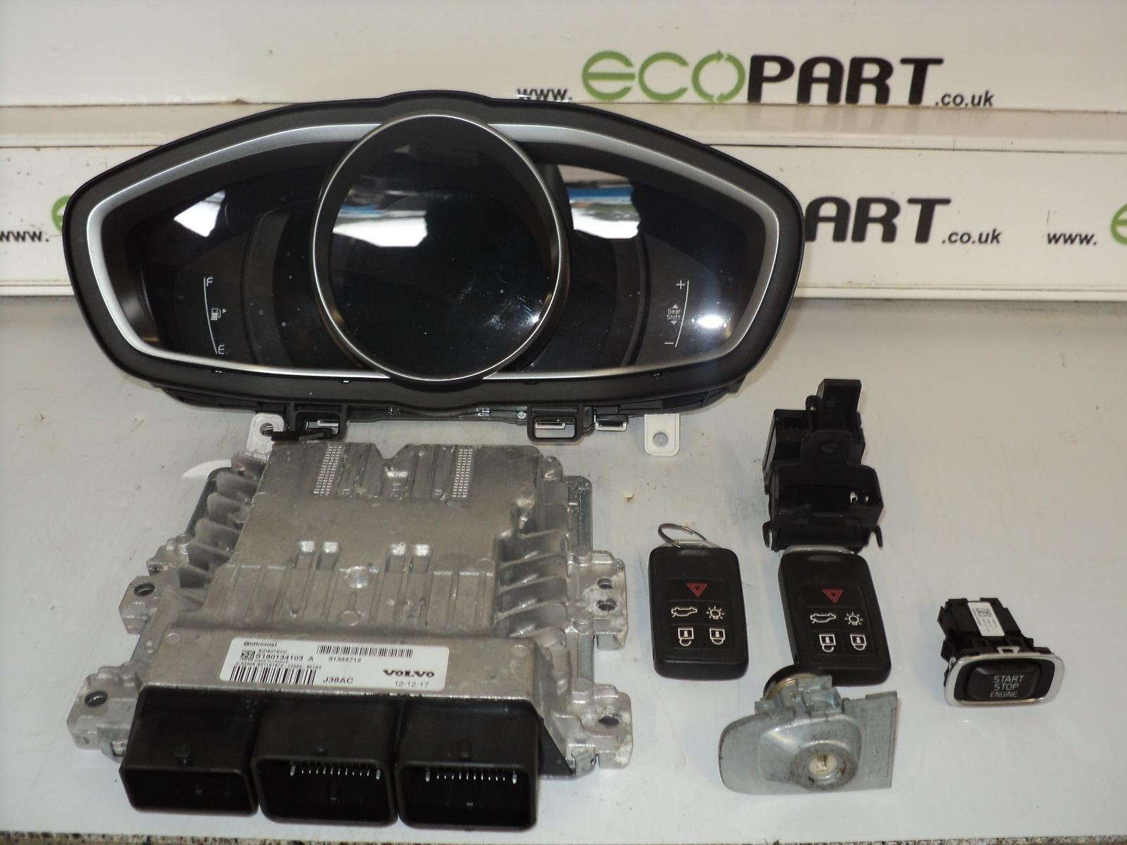 volvo v40 ecu kit engine ecu 1 6 diesel 12 13 14 15 ebay. Black Bedroom Furniture Sets. Home Design Ideas